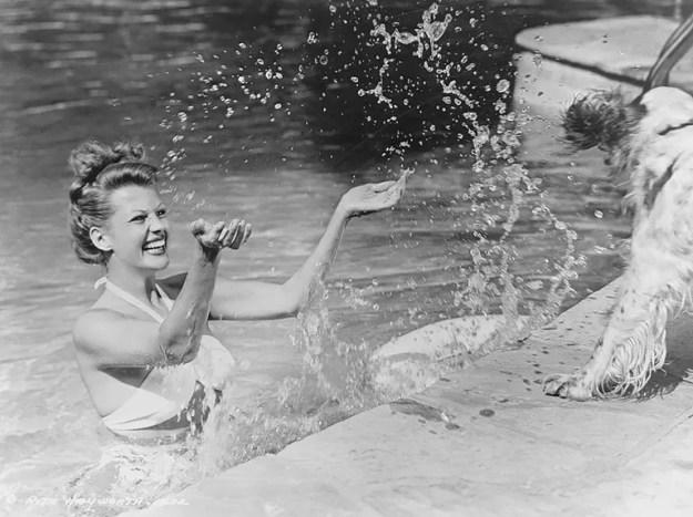 Rita Hayworth and Pookles
