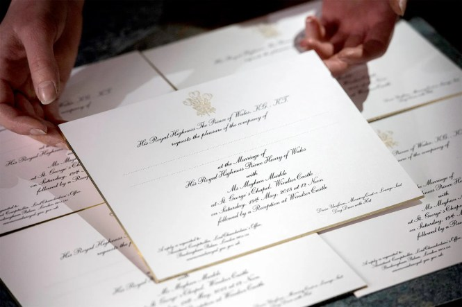 Prince Harry And Meghan Markle S Wedding Invitations Are A