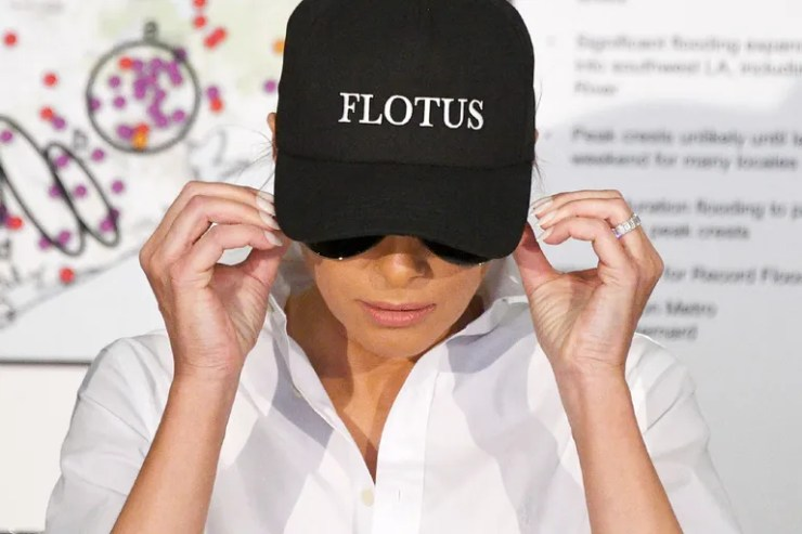 "August 2017: ""FLOTUS"" baseball cap"