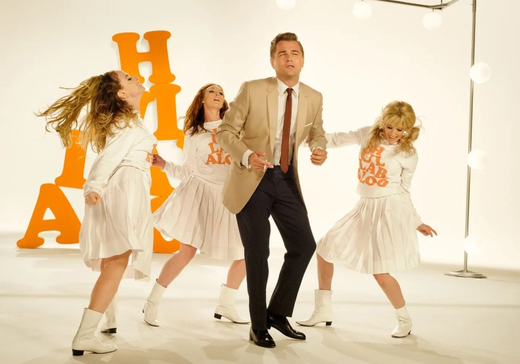 DiCaprio in character on *Hullabaloo,* the zeitgeist-y NBC variety show that ran in the mid-1960s.