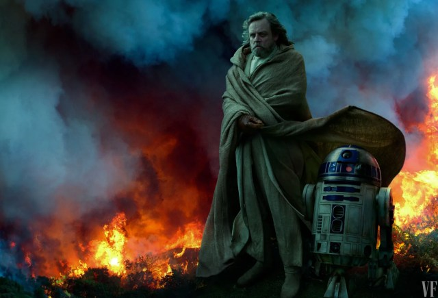 Mark Hamill as Luke with R2D2. PHOTOGRAPH BY ANNIE LEIBOVITZ.