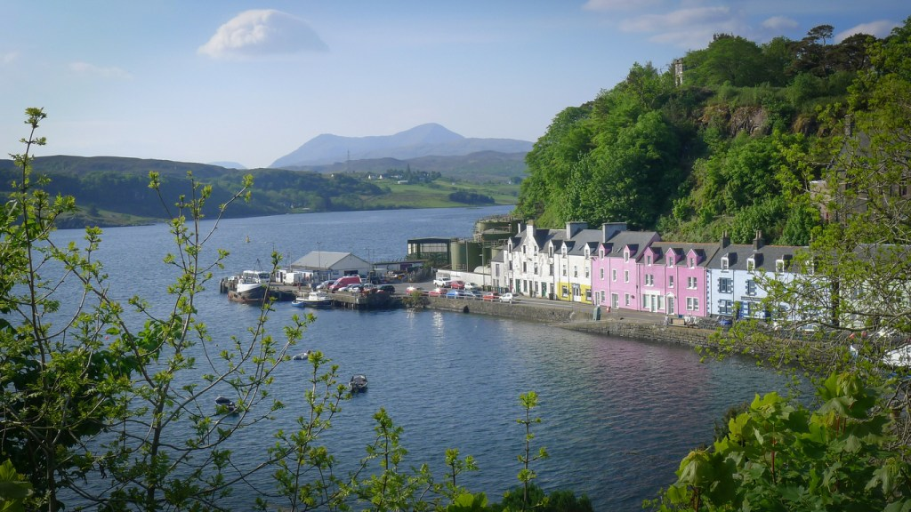Isle of Skye i Skottland, högländerna i Skottland, resa till Skottland, Skottland resa, resa till högländerna, högländerna resa, besöka Portree