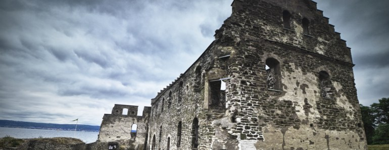 Visingsborgs slottsruin, ruiner på Visingsö, sevärdheter Visingsö