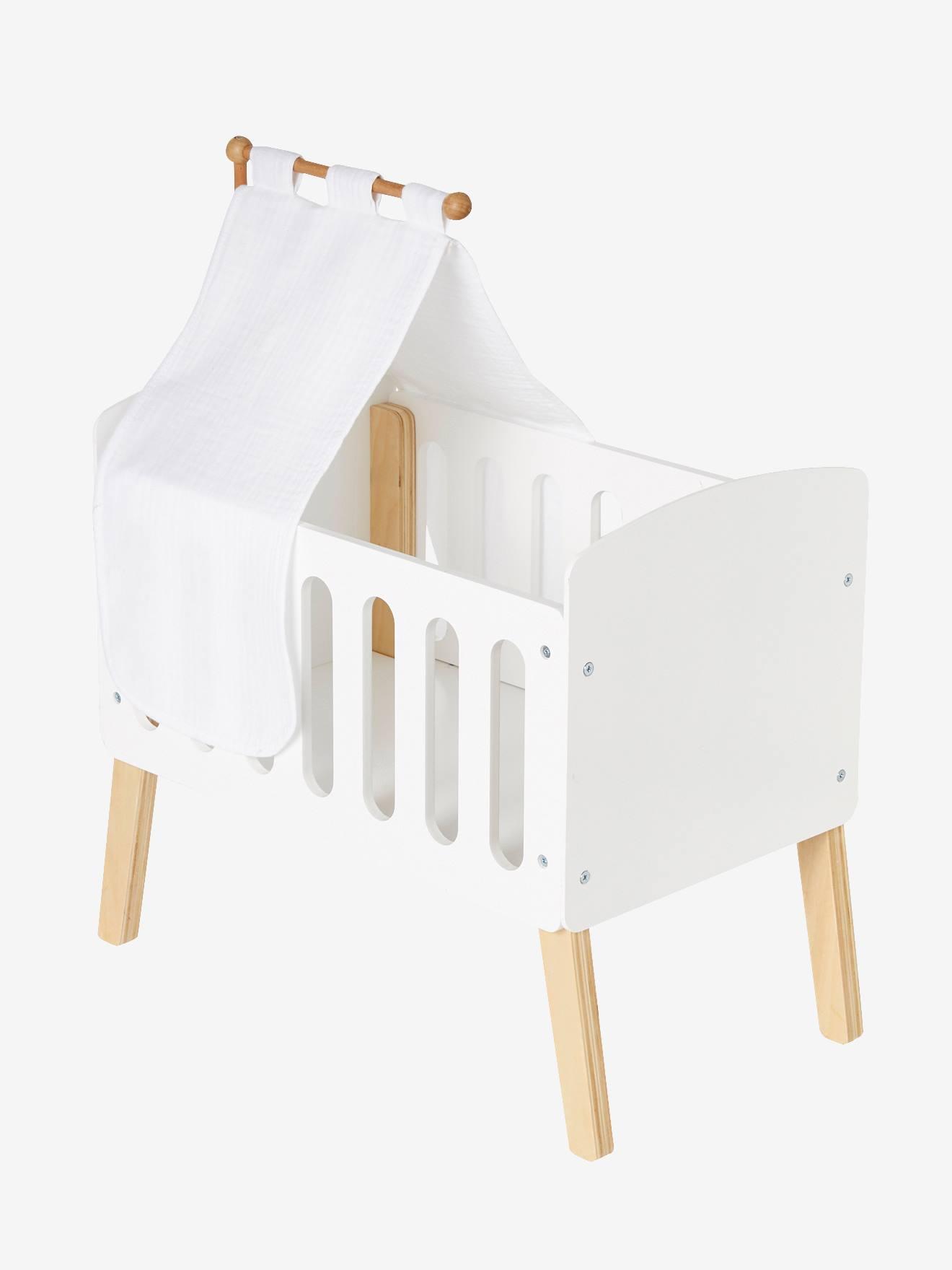 ciel de lit pour lit poupon blanc