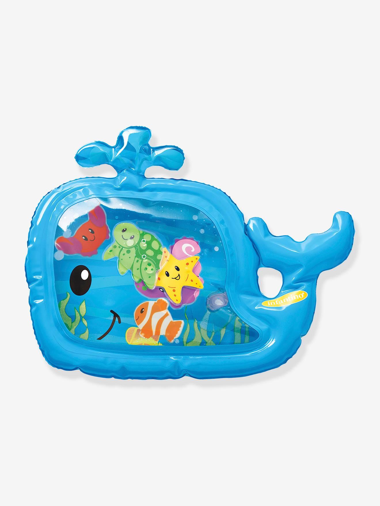 tapis a eau sensoriel infantino bleu