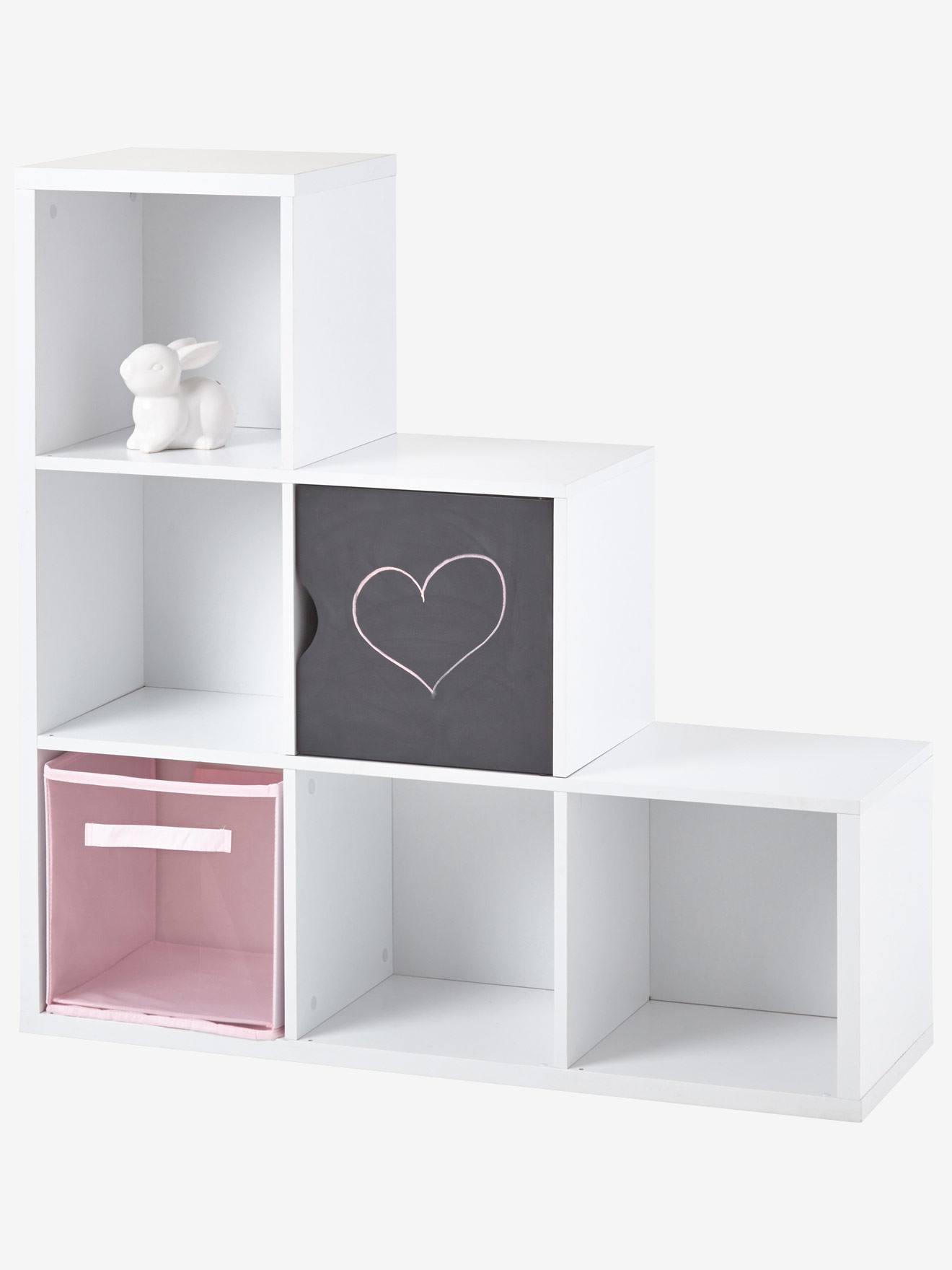 meuble de rangement 6 cases blanc