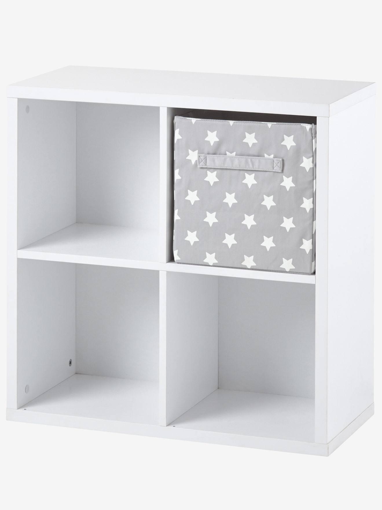 Meuble De Rangement 4 Cases Blanc Vertbaudet