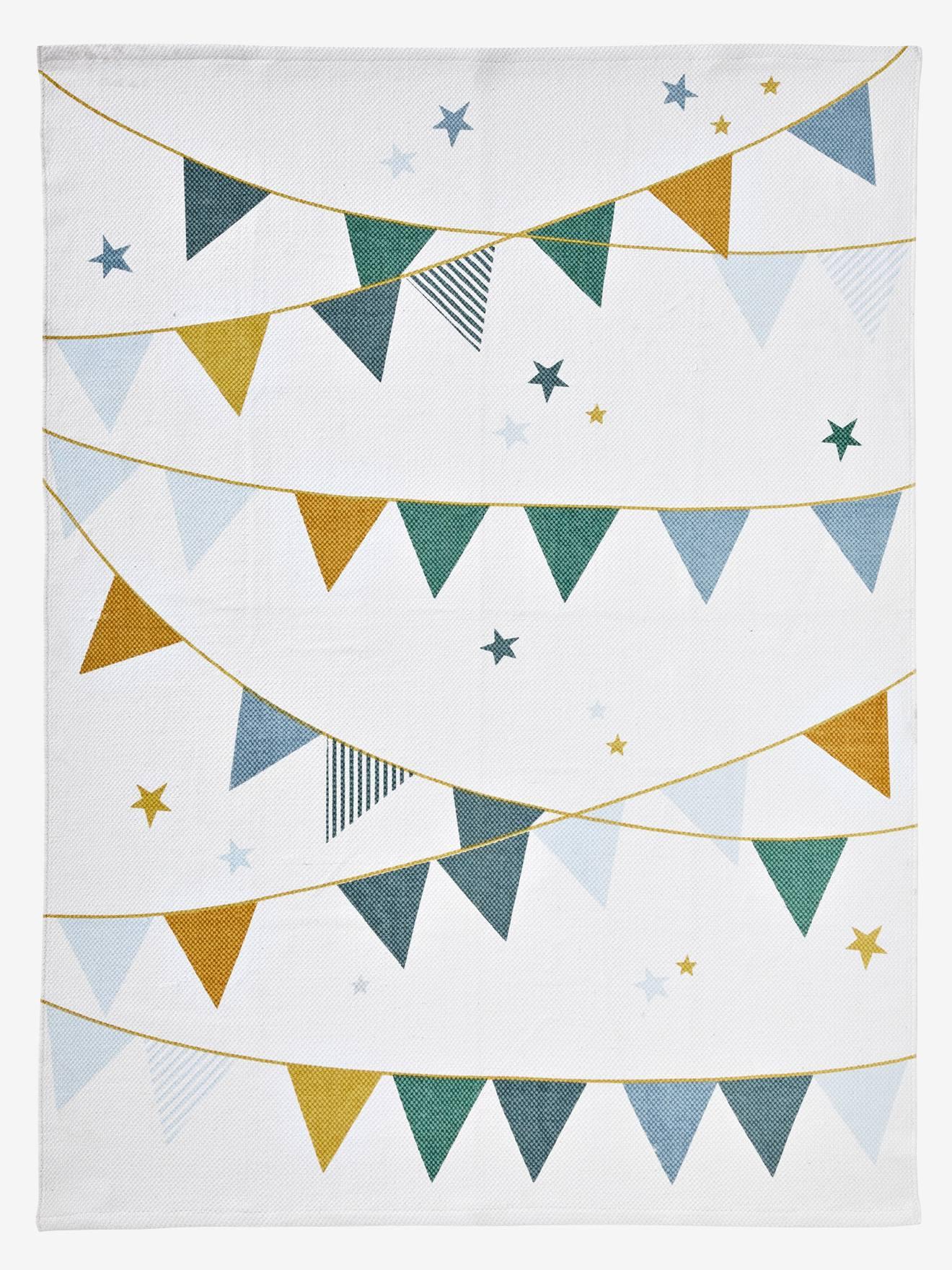 tapis enfant circus blanc motif