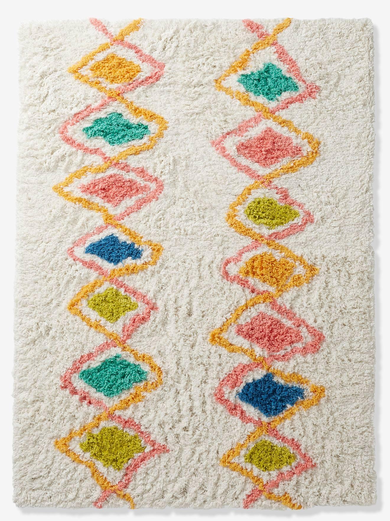 tapis arlequin multicolore