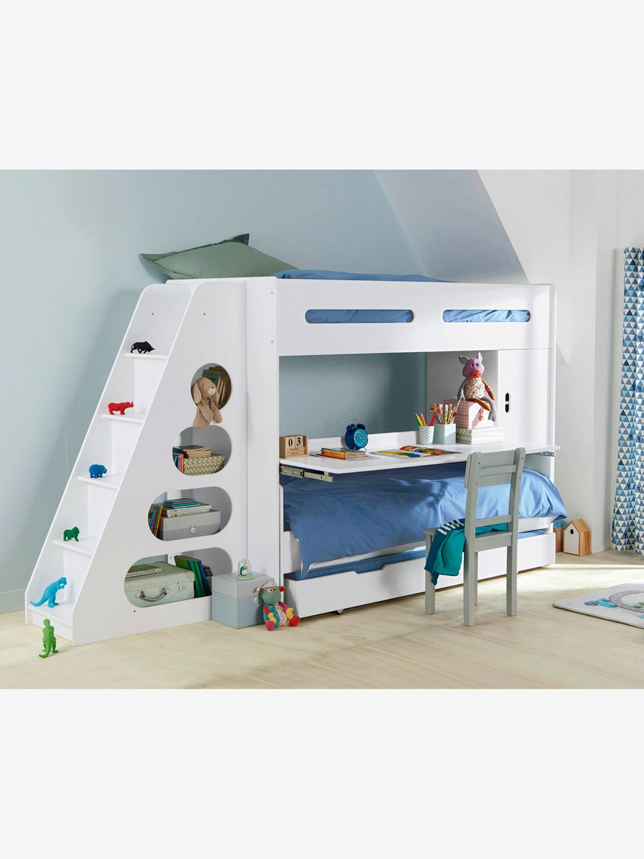 lit mezzanine enfant pour combine evolutif combibed blanc
