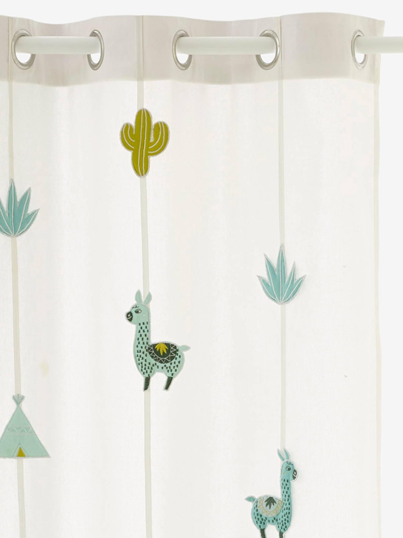 rideau tamisant cactus ivoire