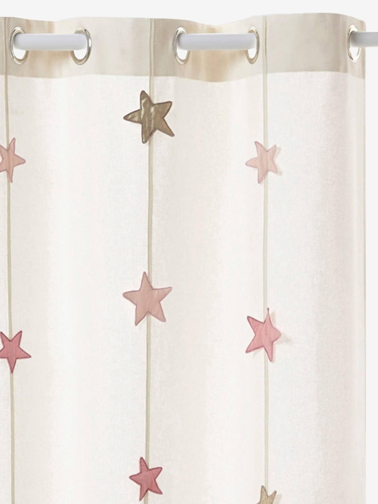 rangement et decoration decoration rideau rideau tamisant magie rose