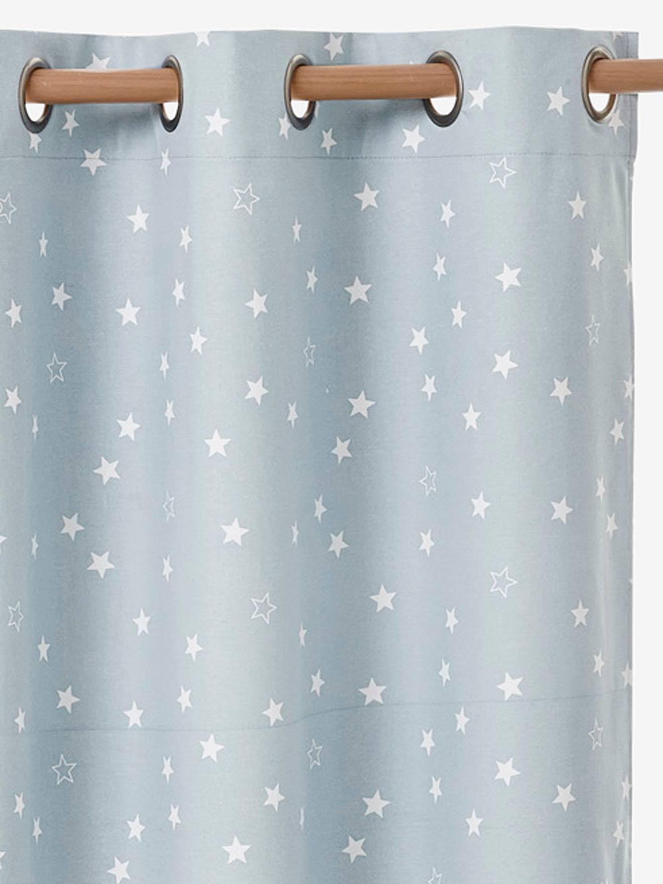 rideau occultant etoiles bleu