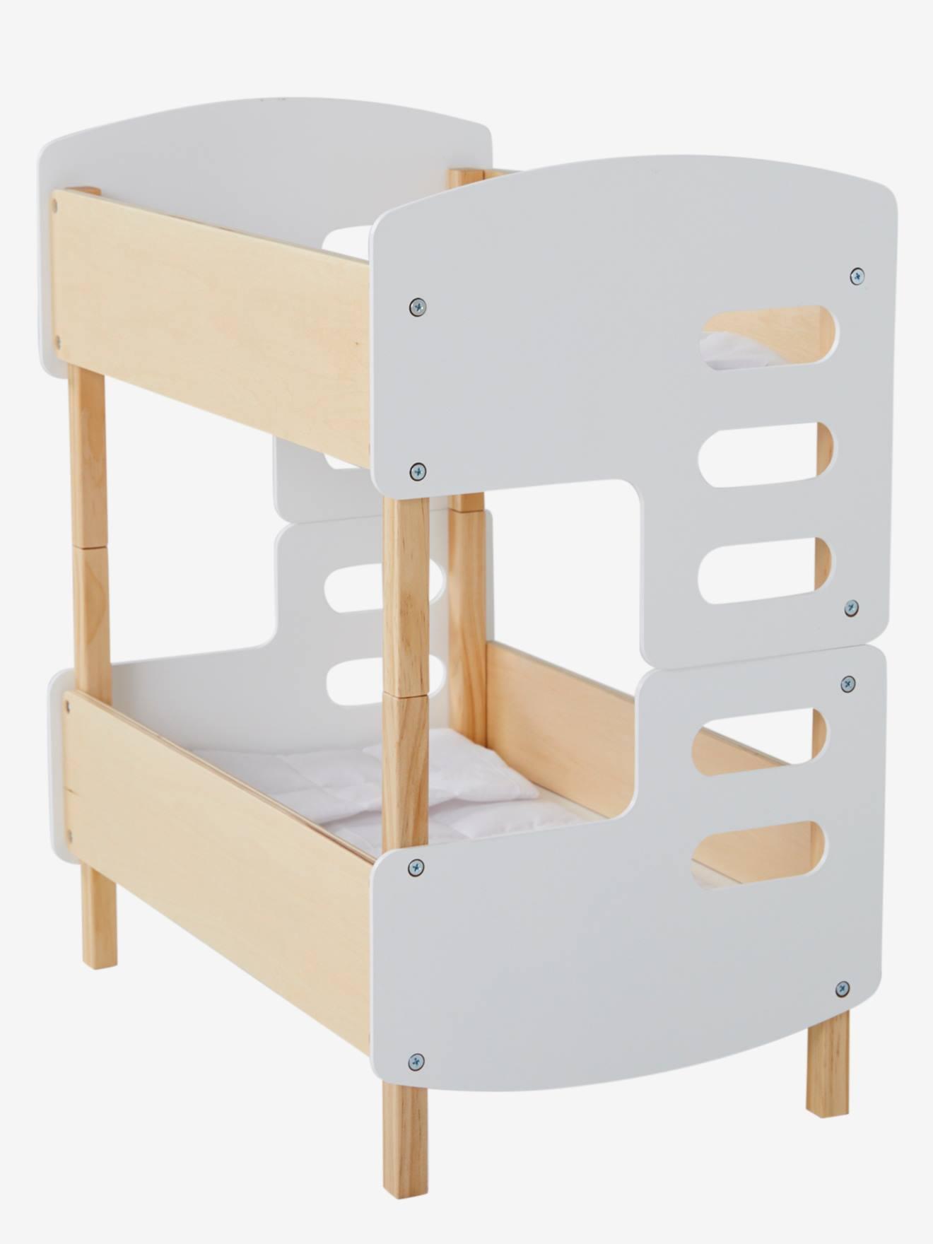 lits superposes poupon en bois blanc