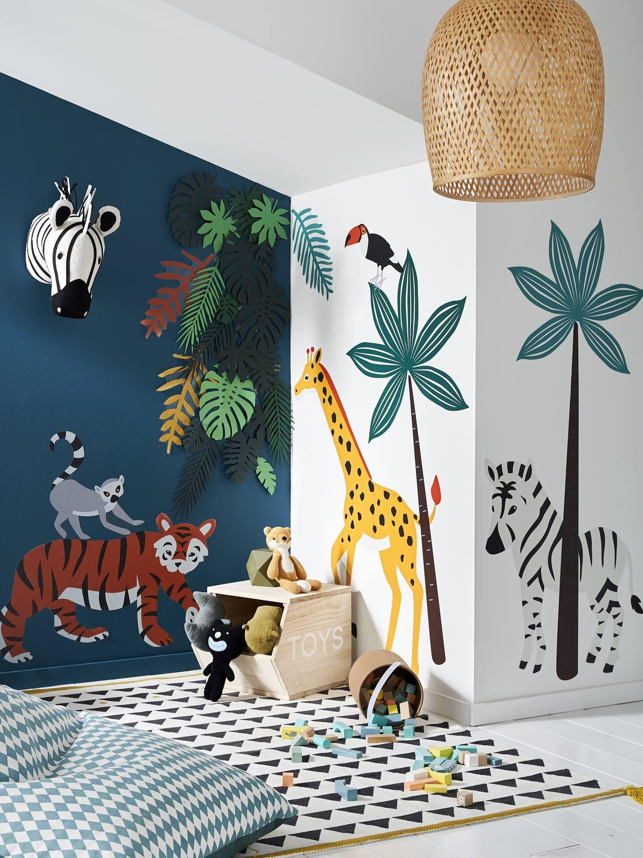 stickers xl green jungle multicolore