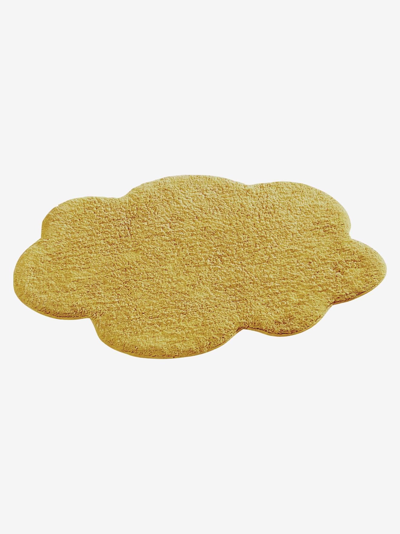 tapis nuage jaune moutarde vertbaudet