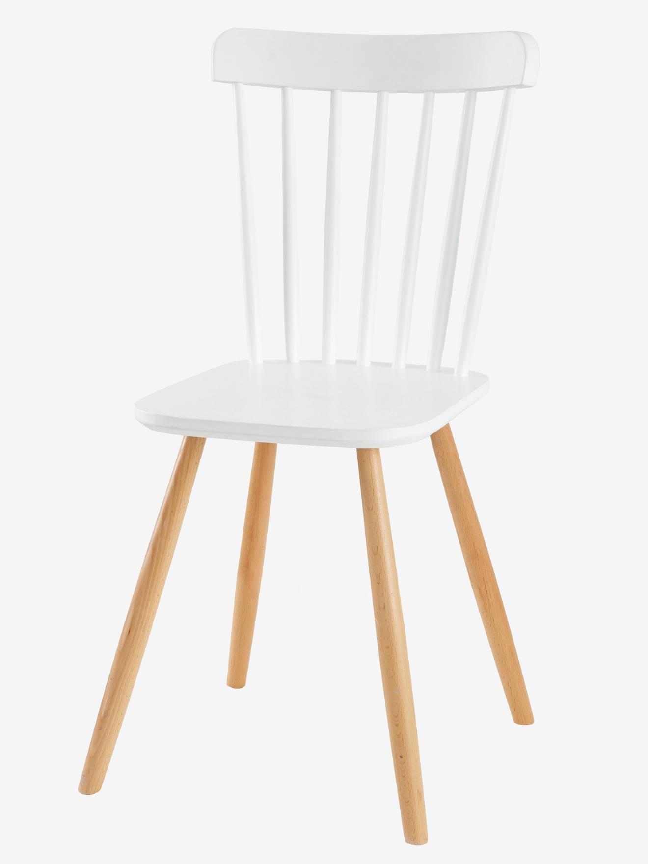 chaise primaire basic assise h 45 cm blanc bois