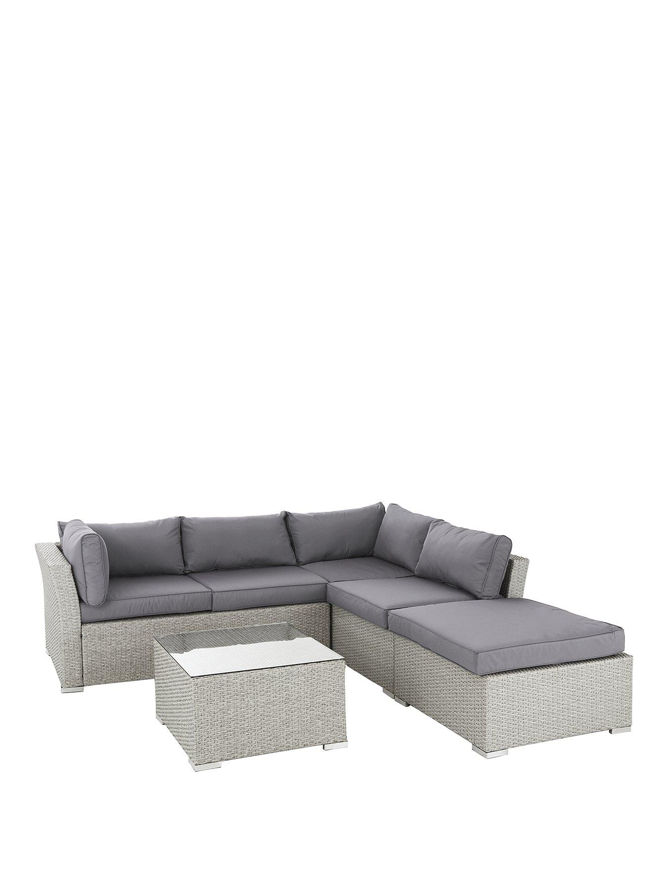 athens 4 piece corner set with table and chaise