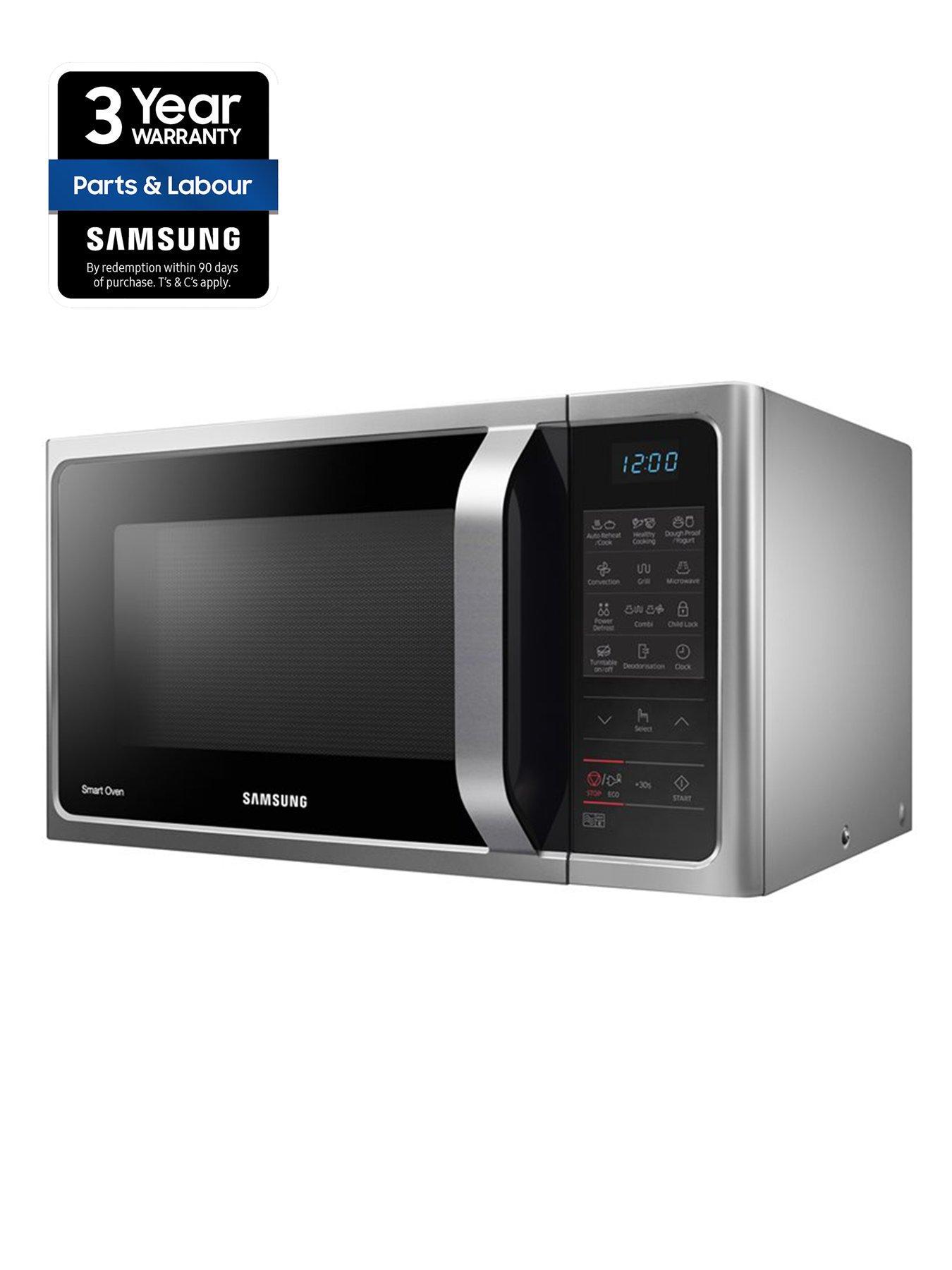 mc28h5013as eu 28 litre convection microwave oven with ceramic enamel interior silver