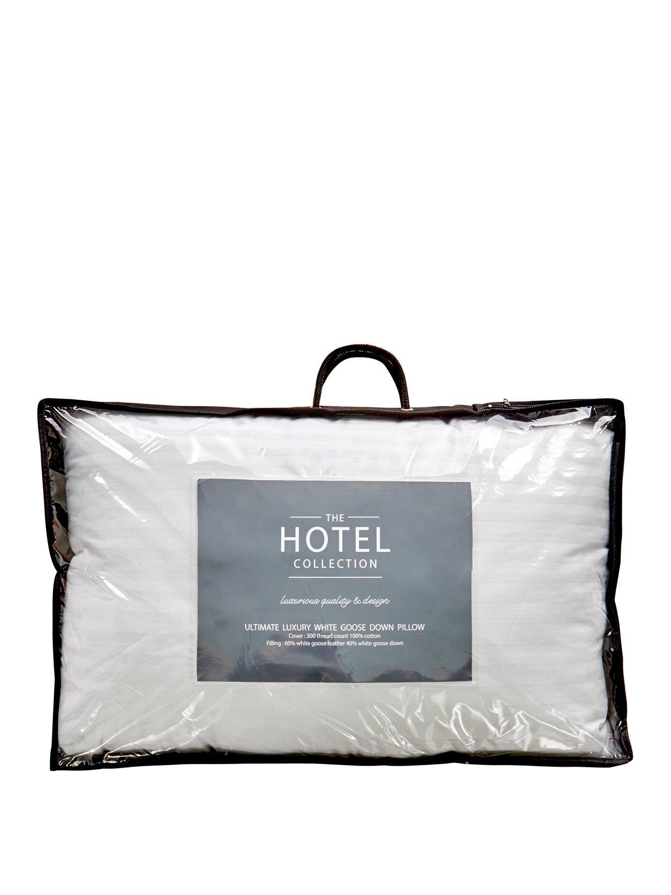 ultimate luxury white goose down pillow single