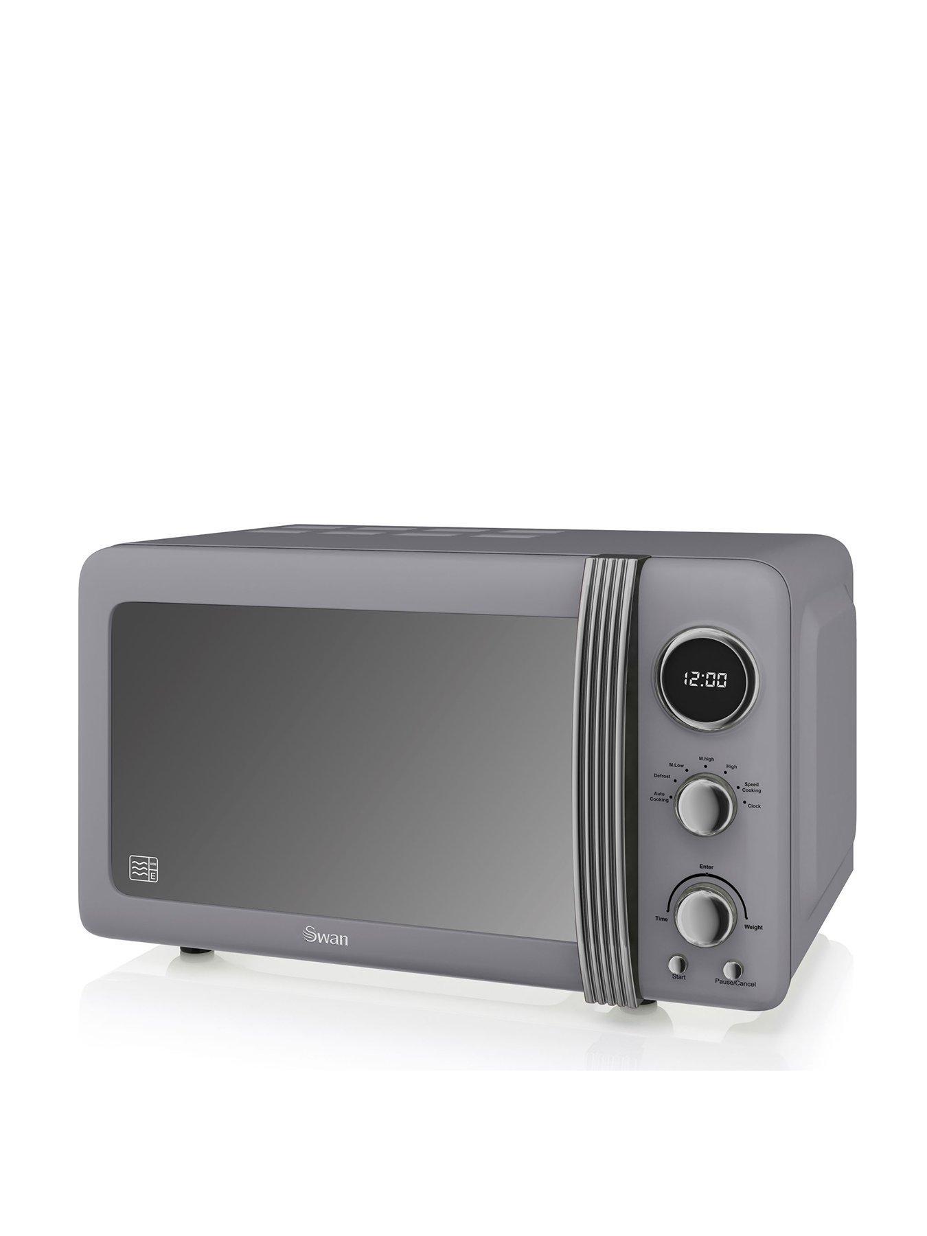 retro microwave grey