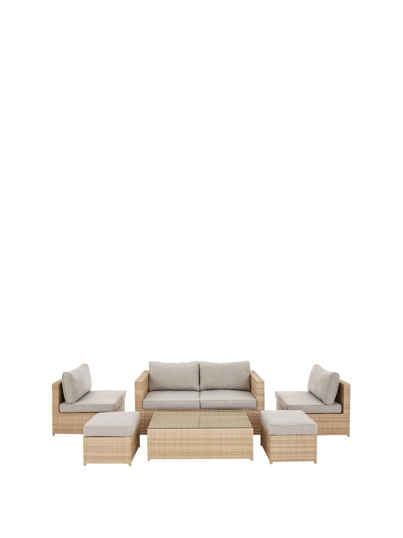 rhodes multi position garden furniture storage set