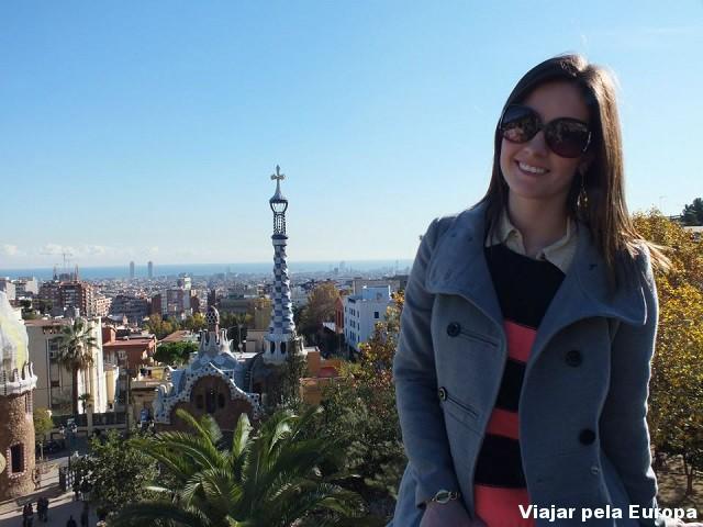 Estela Denk no Parc Guell, Barcelona.