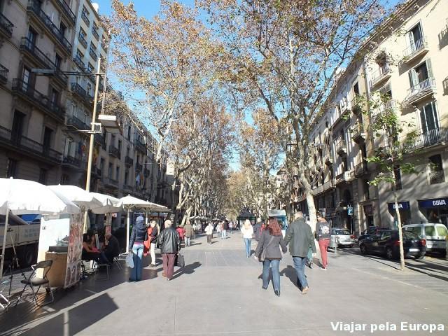 Las Ramblas da Cataluña, Barcelona.