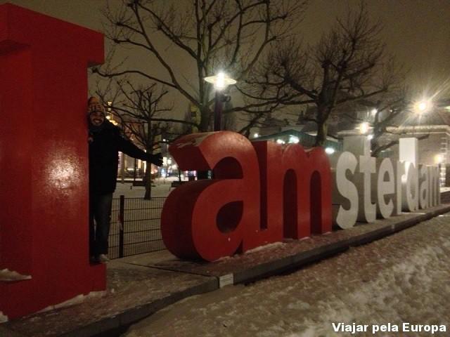 Ponto turístico de Amsterdam.