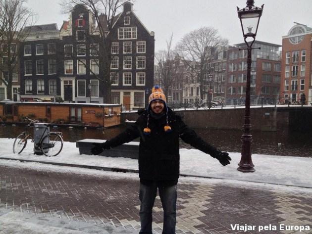 Iago Rodrigues em Amsterdam.