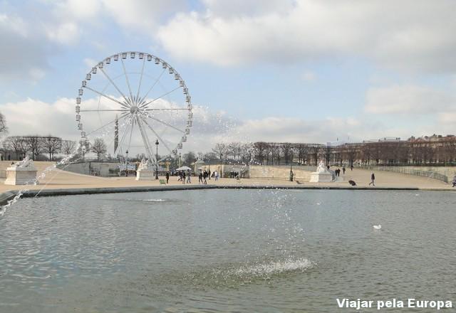 Praça de La Concorde vista do Jardim do Louvre