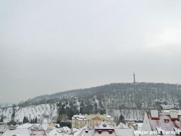 É possível ver do alto do Castelo um pouquinho da mini torre