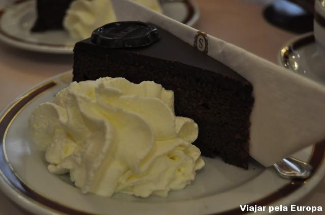 Bolo de chocolate de Viena.