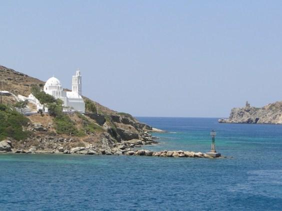 Vista da Ferry a caminho de Santorini. Foto por: Naiara Back