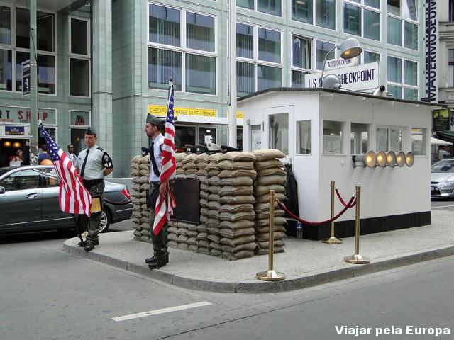 Antigo posto militar Checkpoint Charlie