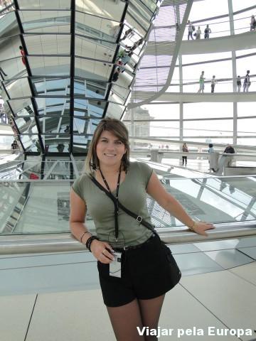 Na cúpula do Reichstag
