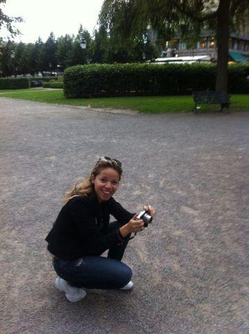 Gisele no Kungsträdgården em Estocolmo.