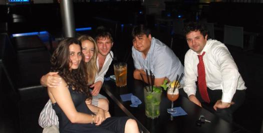 Nós, o Paolo (surfer de Milão) e os amigos dele.