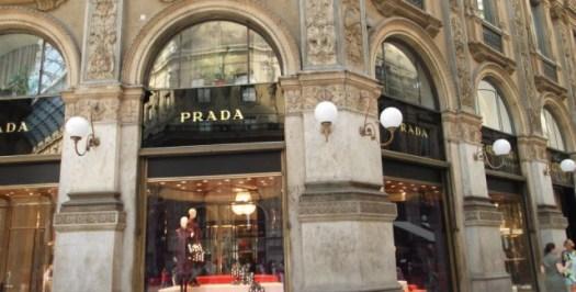 Loja Prada na Galleria Vittorio Emanuele