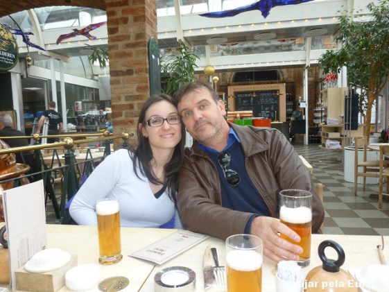 Cerveja com o papai.
