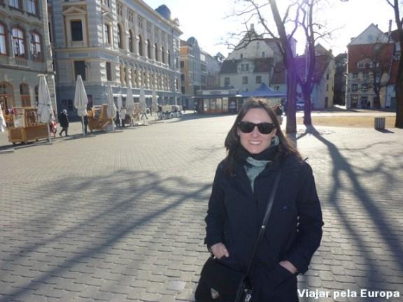 Passeio no Centro Histórico de Riga.