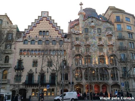 Passeig Gracia e Casas de Gaudí, Barcelona.