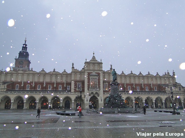 Centro histórico com neve :)