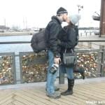 Em Helsinque também tem a ponte dos cadeados do amor