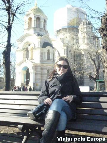 Na época da minha visita a Igreja Kristus Piedzimsanas estava em reforma.