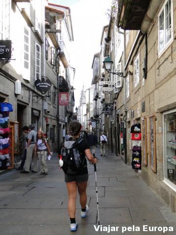 A caminho da Catedral de Santiago de Compostela
