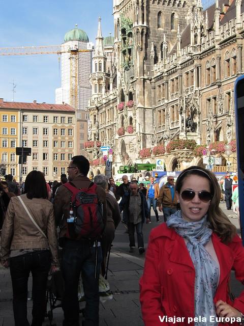 Eu e a movida de Marienplatz.