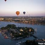 Amazing sunset vista de um balão sobrevoando Estocolmo! Foto por – Jeppe Wikstrom