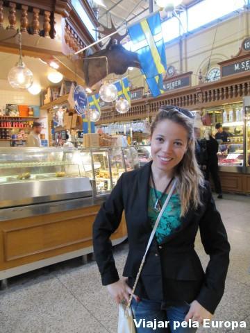 Amo os mercados de comida típicas da Suécia.