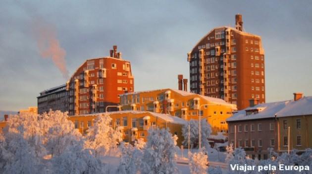 O inverno lindo de Kiruna.